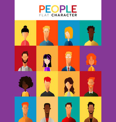 set of business people collection of diverse vector image
