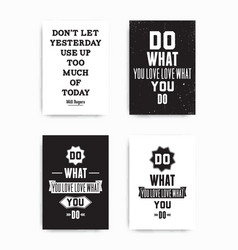 Set posters quote vector