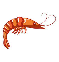 Shrimp icon cartoon style vector