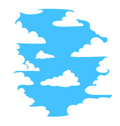 sky in the clouds vector image