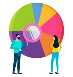 Statistics result in diagram analysis workers vector
