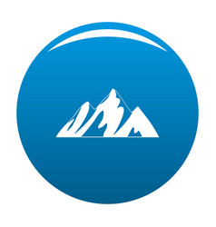 top of mountain icon blue vector image
