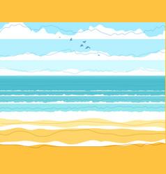 Tranquil seashore beach ocean or sea summer vector