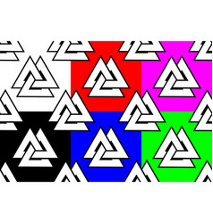 Valknut seamless pattern vector