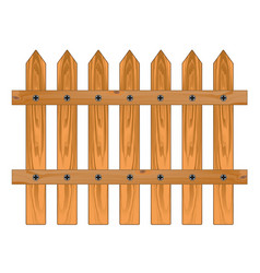 Wooden sharp fence vector
