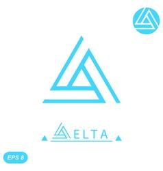 Delta letter logo template vector image vector image