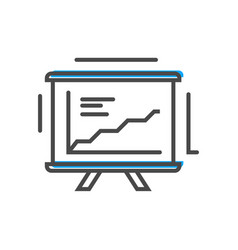 Process management icon with chart on whiteboard vector