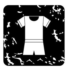 Sport uniform icon grunge style vector image