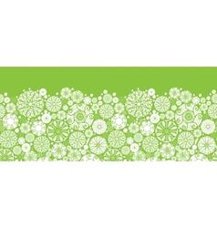 Abstract green and white circles horizontal vector image vector image