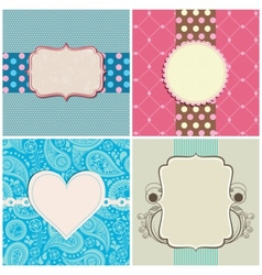 retro greeting cards set vector image vector image