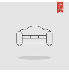 Sofa Icons Modern design flat style icon vector image