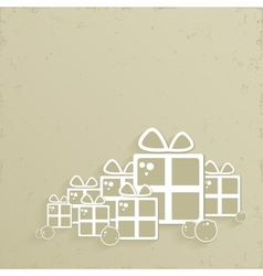 Christmas background in retro style vector image