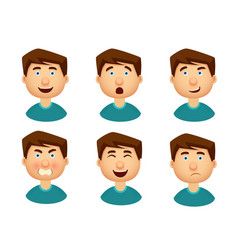 collection of man with a variety of emotions vector image vector image