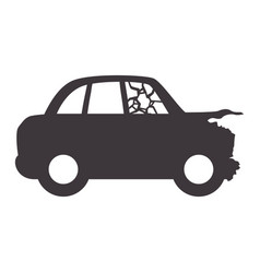 crash car and dangerous automobile accident vector image