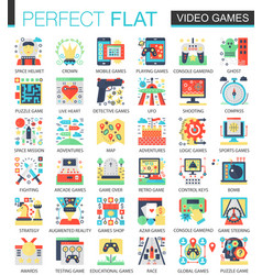 video games console game complex flat icon vector image