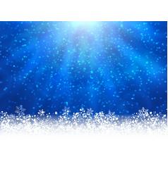 blue winter backround vector image vector image