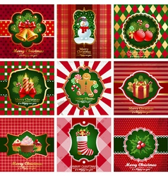 Christmas vintage backgrounds vector image vector image