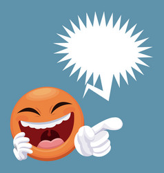 emoticon smiling with bubble speech vector image