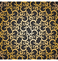 golden pattern with swirls vector image