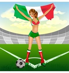 Italy girl soccer fan vector image