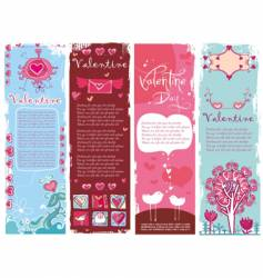 Valentine's Day banners vector image