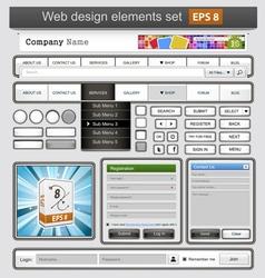web design white vector image