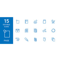 15 page icons vector