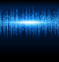 Abstract blue waveform vector