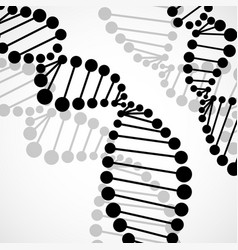 Abstract spiral of dna molecular background vector