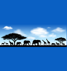 african animals savanna vector image