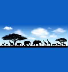 African animals savanna vector