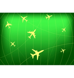airplane routes vector image