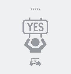 approving concept - web icon vector image