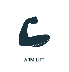 arm lift icon from plastic surgery collection vector image