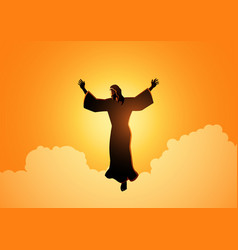 ascension jesus christ vector image