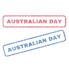Australian day textile stamps vector