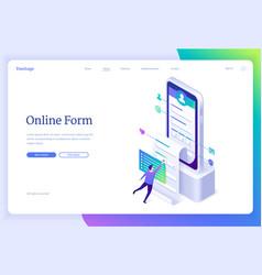 Banner online form application vector