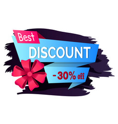 best discount 30 percent price reduction banner vector image