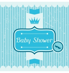 Boy baby shower invitation card vector