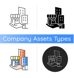 Building ownership icon vector