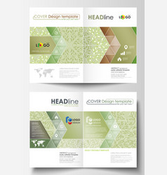 business templates bi fold brochures flyers vector image