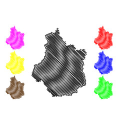 Centre-val de loire map vector