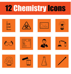 chemistry icon set vector image