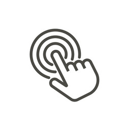 click icon line touch finger symbol vector image