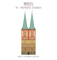 colorful st nicholas church vector image