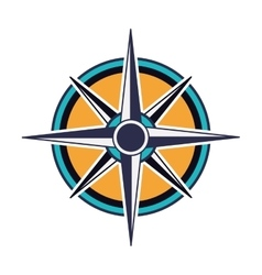 compass rose design vector image