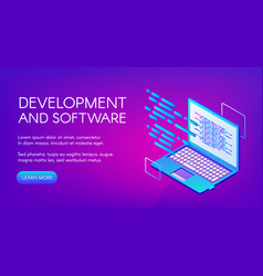Computer software development vector
