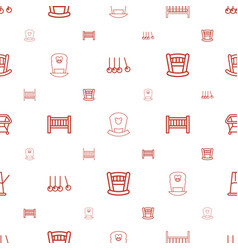 Cradle icons pattern seamless white background vector