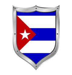 Cuba flag button vector image