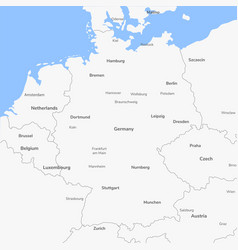 Detailed map germany vector